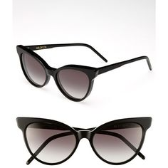 Women's Wildfox 'La Femme' 55mm Sunglasses (£120) ❤ liked on Polyvore featuring accessories, eyewear, sunglasses, wildfox sunglasses, cateye sunglasses, wildfox, gradient lens sunglasses and wildfox eyewear