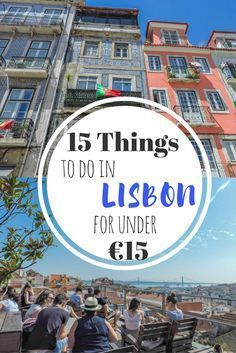 15 things to do in Lisbon for under from traditional food, biking to Belem, and a partying in the Portuguese capital city Portugal Travel Destinations Honeymoon Backpack Backpacking Vacation Europe Budget Bucket List Wanderlust Europe Travel Tips, European Travel, Places To Travel, Travel Destinations, Europe Budget, Holiday Destinations, Budget Travel, Portugal Travel Guide, Portugal Trip