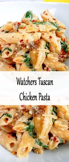^Foodlogger^ How Make ; Meat Recipes For Dinner, Chef Recipes, Bread Recipes, Breakfast Recipes, Vegan Recipes, Chicken Ideas, Chicken Recipes, Whole Wheat Noodles, Tuscan Chicken Pasta
