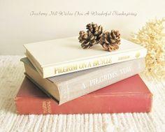 Pilgrim Book Bundle ~ Simple Vintage Thanksgiving Home Decor you can build on!
