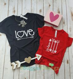 Love arrows shirt/mommy and me outfit/mommy to be/mother daughter matching/love/mom boss shirt/mini boss shirt/mama bear shirt/newborn gift by 3BuggasDesign on Etsy