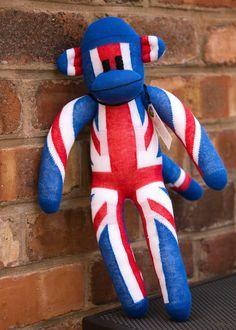 Union jack toy monkey