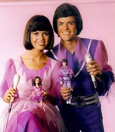 Donnie and Marie with their Dolls