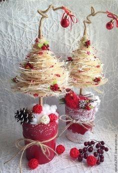 Новый год 2015 ручной работы. Ярмарка Мастеров - ручная работа Елочка Клюква в сахаре. Handmade.
