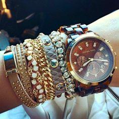 Tortoise Chronograph Watch by Michael
