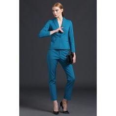 Damen Stretch Hosenanzug in Blau
