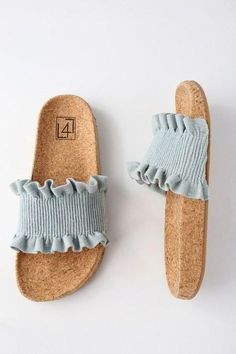#Spring #AdoreWe #Lulus - #Lulus Alexa Denim Slide Sandals - Lulus - AdoreWe.com