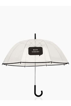 """What turns a rainy day around? A fancy umbrella you can bust into school with and look like a million bucks. The cute """"rain check?"""" note on the front will have her classmates staring for all the right reasons.  $38, katespade.com"""