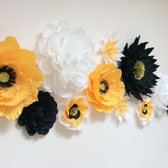 Crepe paper flowers for wall decor by PrettyPaperPetalsUK Colour Paper Flowers, Paper Flowers Wedding, Crepe Paper Flowers, Diy Paper, Paper Crafts, Paper Quilling, My Room, Ali, Bouquet