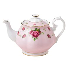 Tea pot pink with roses