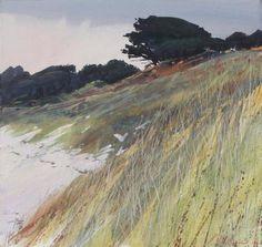 Winter Light, Pentle Beach mixed media Paul Lewin