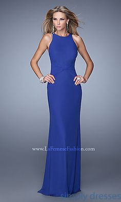 High Neck La Femme Prom Dress at SimplyDresses.com