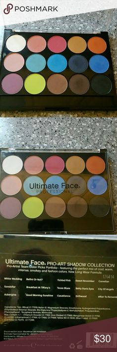 Ultimate face professional eyeshadow Ultimate face eyeshadow palette only swatched Makeup Eyeshadow
