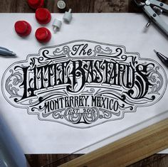logotipo para The Little Bastards.