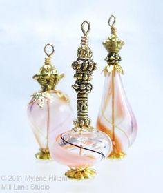 Bead Bottle, Bottle Jewelry, Bottle Necklace, Genie Bottle, Infinity Pendant, Miniature Bottles, Swarovski Crystal Necklace, Unique Necklaces, Simple Jewelry