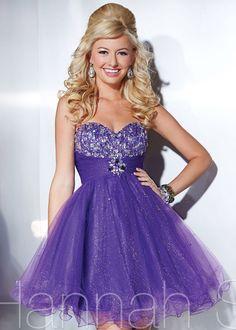 2014 Hannah S 27856 Purple Prom Dresses