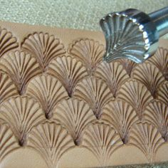 leather tooling | Hackbarth Stainless Leather Tool - Medium Shell Stamp