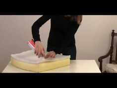 upholster tutorial: how to cut foam