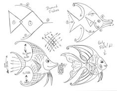 Draw a Simple Fish by Diana-Huang on DeviantArt Drawing Skills, Drawing Lessons, Drawing Techniques, Art Lessons, Doodle Drawings, Easy Drawings, Animal Drawings, Doodle Art, Motifs Organiques