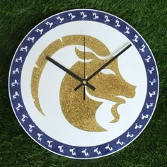 "Zodiac Sign CAPRICORN Wall Clock DIA 12"" Inch Gold Glitter Colour: Black Clock Hands"