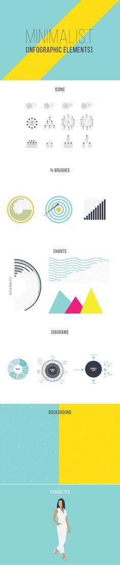 Minimalist Infographic Elements . Infographic Elements. $15.00