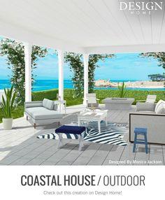Outdoor Furniture Sets, Outdoor Decor, Coastal, House Design, Patio, Decorating Games, Home Decor, Decoration Home, Room Decor