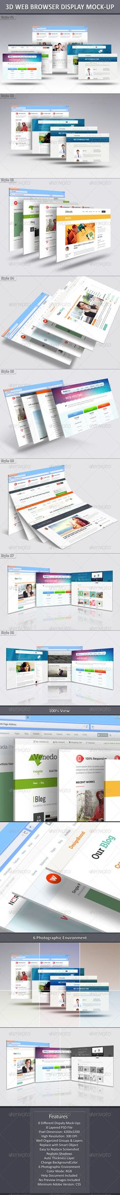 1000 Images About Website Mock Up On Pinterest: 3d web browser
