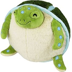 Time to release the sweet, social, and salty-only-in-habitat Squishable Sea Turtle! See? Turtle!! #squishable #plush #newrelease