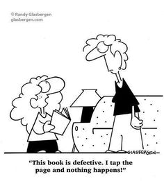 Reading books vs technology :-)