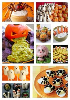 Halloween Food Ideas!  FOOD ART! These are SO CLEVER!!!