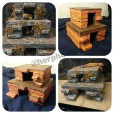 Mini ziggurat reptile hide by Herphomes on Etsy