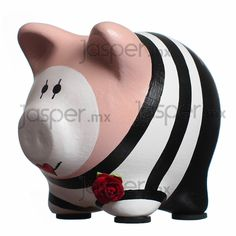 Alcancía cerdito de cerámica - Mimo mini Pig Bank, Mini Pigs, Cute Piggies, Money Box, Handicraft, Easter Eggs, Color Schemes, Diy Projects, Diy Crafts