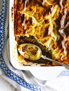 Moussaka is a classic Greek dish and a family favourite with cinnamon-spiced lamb, meaty aubergine and a delicious creamy, nutmeg-spiked sauce. Cook and eat it now, or freeze it for a quick and easy meal to have on-hand.