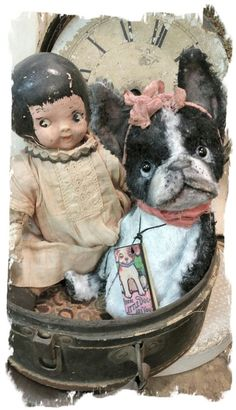 "Image of Boston Terrier - Dog - 7"" size * By Whendi's Bears"