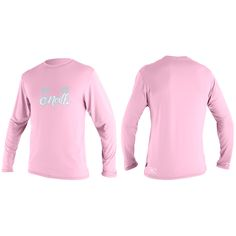 O'Neill Skins long sleeve rash tee toddler girls Pink on sale in the UK along with best deals on many other sportswear items available online..