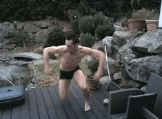German Man Tries To Cannonball Into Frozen Pool, Fails
