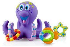 Nuby Octopus Floating Bath Toy (Multi-Coloured): Amazon.co.uk: Toys & Games