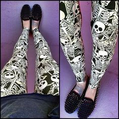 #bmfunnyboneslegs from @blackmilkclothing halloween collection last year!
