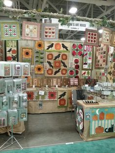Suzanne's Art House booth at Utah spring Market.