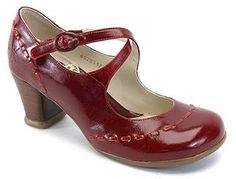 fluevog red patent maryjane
