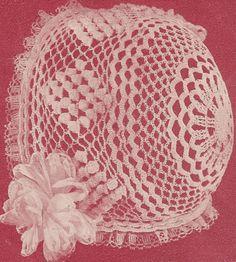 Thread Crochet Baby Bonnet Pattern | Free Crochet Baby Bonnet Patterns – Crocheting Baby Bonnets