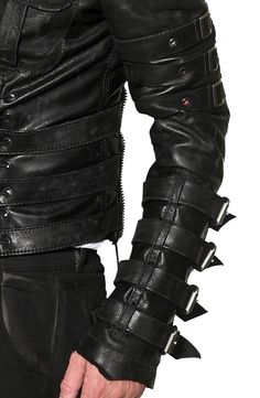 "Men's JUNKER Designs - ""CHAINSAW"" Leather Jacket in Black"