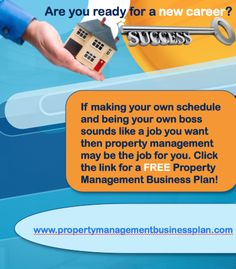If you have every thought about being property manager download your FREE property management plan now.