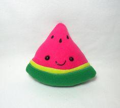 Cute Watermelon Slice Plush -MADE TO ORDER-