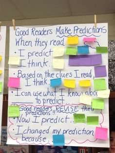 Making Predictions anchor chart with sentence frames | Making ...