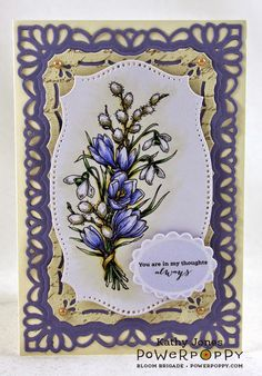 Inspired to Stamp: Winter Blitz Release! Winter Pick-Me-Up Digital Stamp Set by Power Poppy, card design by Kathy Jones.