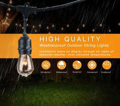 Cymas Outdoor String Lights 49ft Led Weatherproof Connectable Lig Home Ideas And Dreams Pinterest Lighting Bulbs Porch