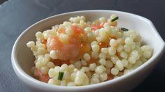 Salade de perles / saumon / crevettes