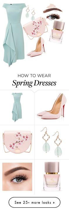 """""""Spring Barbie"""" by barbiestylescomeback on Polyvore featuring Roland Mouret, Christian Louboutin, Ted Baker, Morphe, Burberry and Spring"""