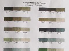 Vallejo Model Color Paint charts and triad combinations Vallejo Paint, Paint Charts, Color Mixing Chart, Figure Painting, Paint Colors, Google Drive, Miniatures, Colours, Colour Palettes